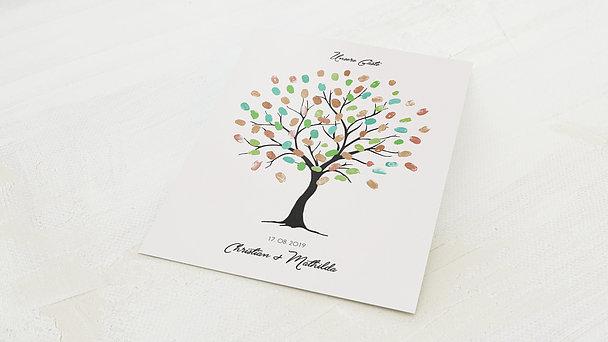 Fingerabdruckposter - Hochzeitsbaum Wir