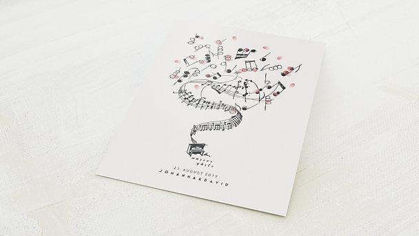 Fingerabdruckposter - Hochzeitsmarsch