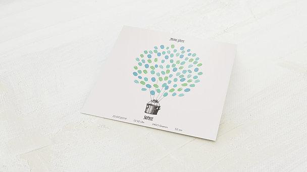 Fingerabdruckposter - Ballonkorb
