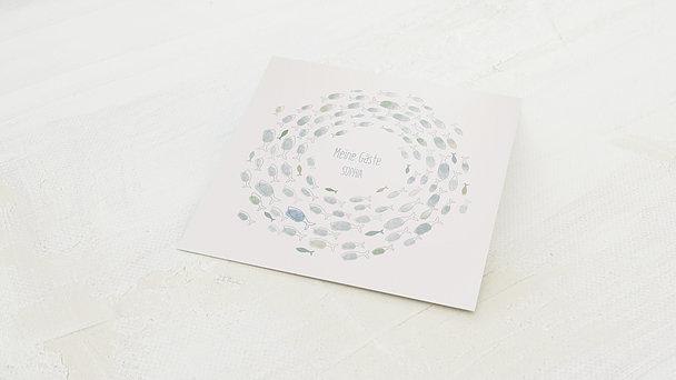 Fingerabdruckposter - Blaue Harmonie