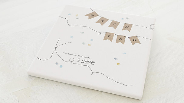 Fingerabdruckposter - Paper flags Kommunion