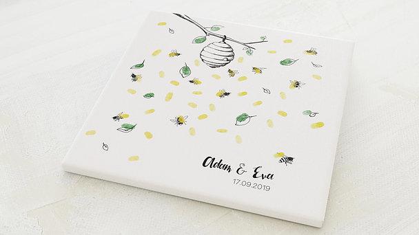 Fingerabdruckposter - Bienenstock
