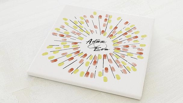 Fingerabdruckposter - Feuerwerk