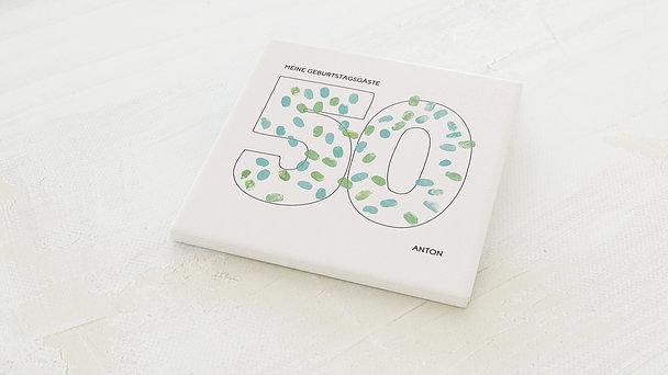 Fingerabdruckposter - Geburtstagsprint 50