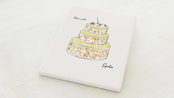 Fingerabdruckposter - Geburtstagskuchen Fingerprint