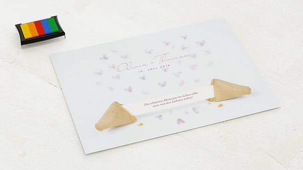 Fingerabdruckposter - Fortune Cookie