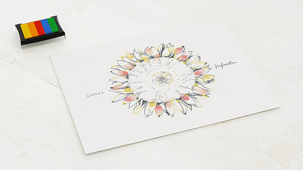 Fingerabdruckposter - Blütenreise Konfirmation