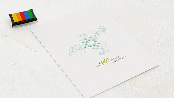 Fingerabdruckposter - Blütenfeuerwerk