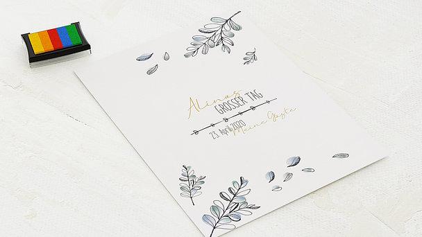 Fingerabdruckposter - Meine Zeremonie
