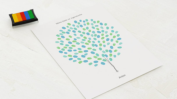 Fingerabdruckposter - Jugendweihe Ballons