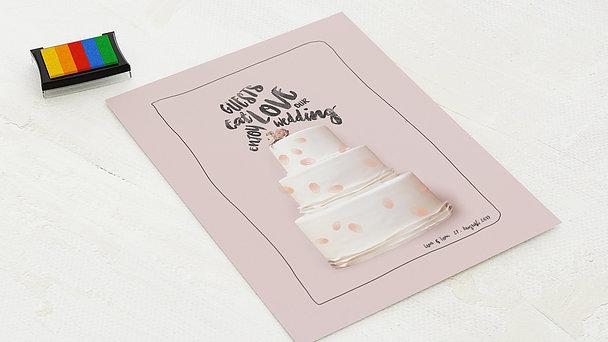 Fingerabdruckposter - Süßer Abdruck