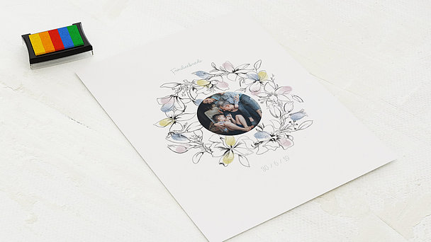 Fingerabdruckposter - Flower garland