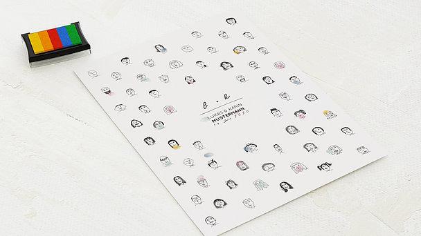 Fingerabdruckposter - Happy heads