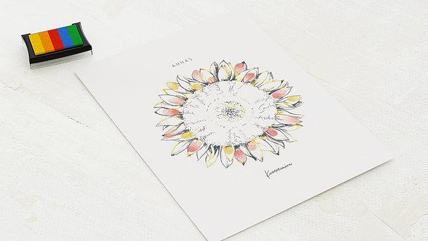 Fingerabdruckposter - Blütenreise Kommunion