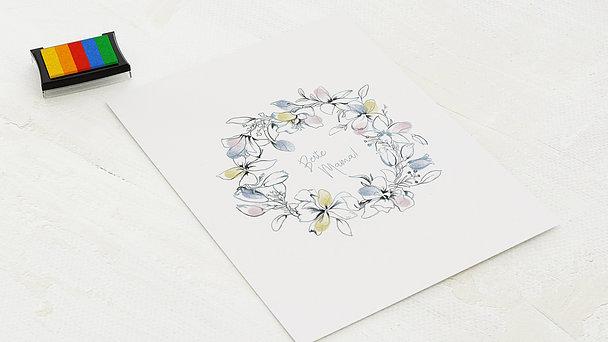 Fingerabdruckposter - Blumen für Mama
