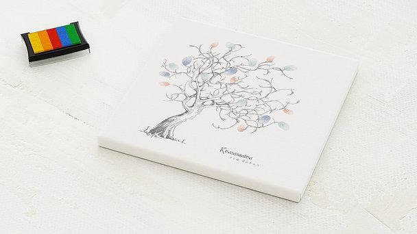 Fingerabdruckposter - Auf den Ästen Kommunion