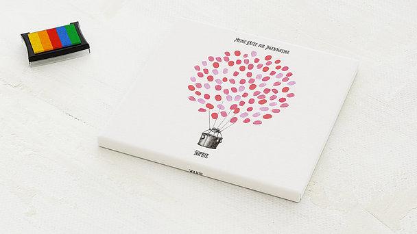 Fingerabdruckposter - Jugendweihe Ballonkorb