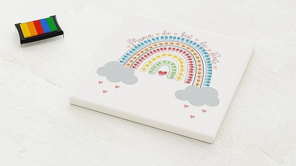 Fingerabdruckposter - Regenbogen