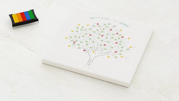 Fingerabdruckposter - Frühling Baum Kommunion