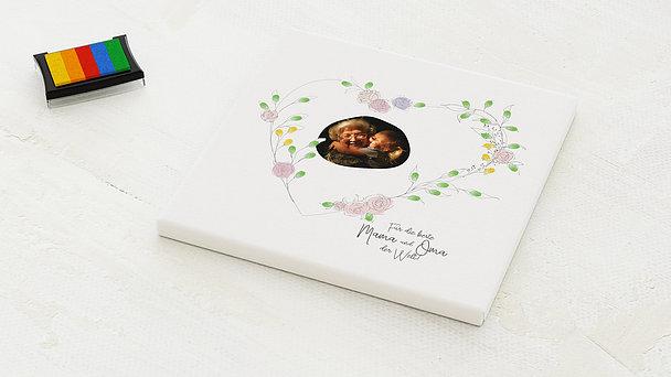 Fingerabdruckposter - Rosenherz