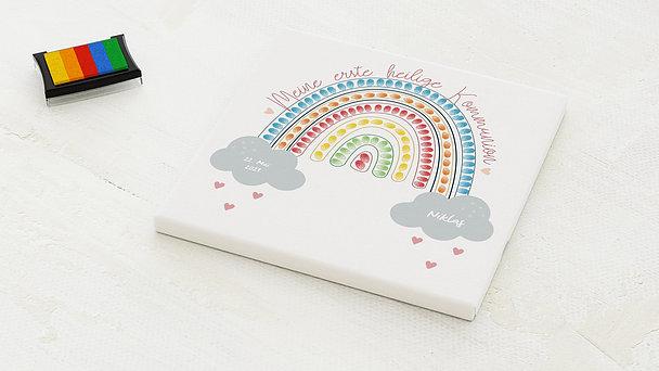 Fingerabdruckposter - Regenbogen Kommunion