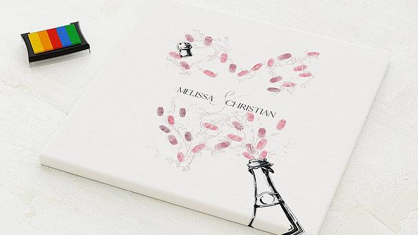 Fingerabdruckposter - Champagnerdusche