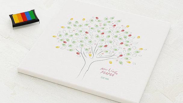 Fingerabdruckposter - Frühling Baum