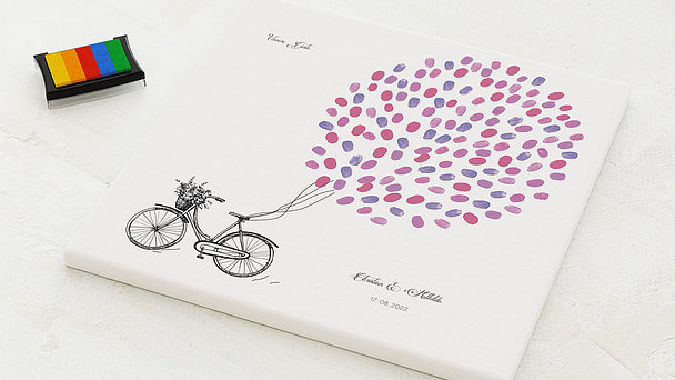 Fingerabdruckposter - Bicycle