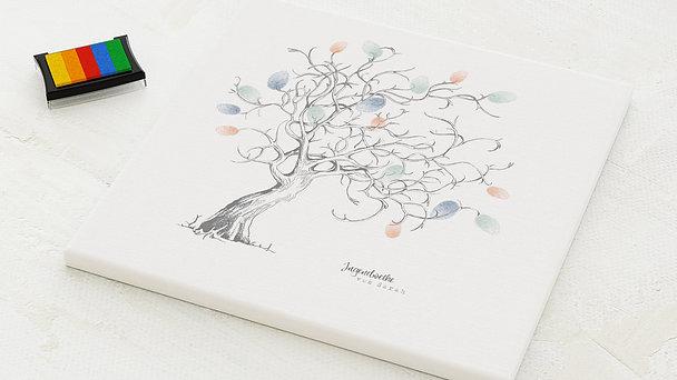 Fingerabdruckposter - Auf den Ästen Jugendweihe