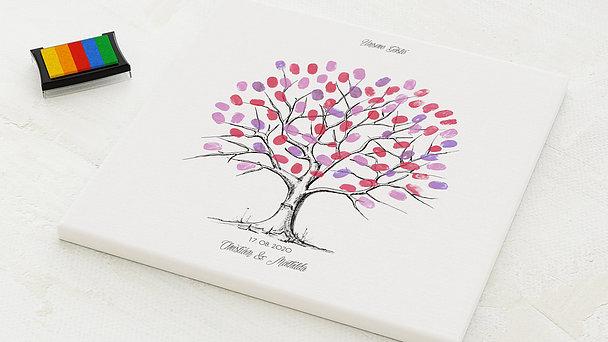 Fingerabdruckposter - Fingerabdruck Baum Holz