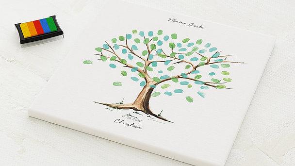 Fingerabdruckposter - Mein Baum