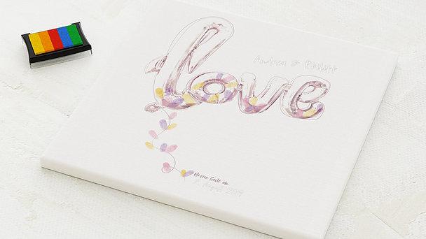 Fingerabdruckposter - Love Balloon