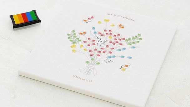 Fingerabdruckposter - Blumenstrauß für Mama