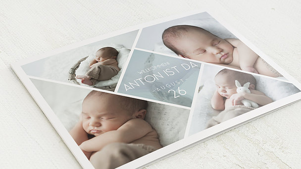 Geburtskarten - Facetten Baby