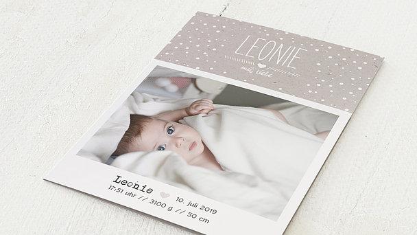 Geburtskarten - Mit Liebe