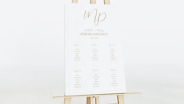 Sitzplan Hochzeit - Initialen der Liebe