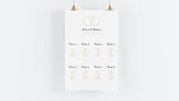Sitzplan Hochzeit - Zarte Ringe