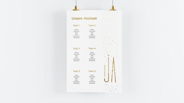 Sitzplan Hochzeit - Goldsturm