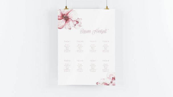 Sitzplan Hochzeit - Blütenpracht