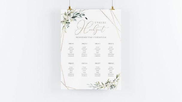 Sitzplan Hochzeit - Tender Florals