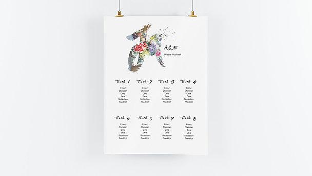 Sitzplan Hochzeit - Liebesenergie