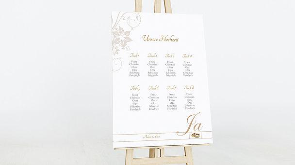 Sitzplan Hochzeit - Weiße Hochzeit