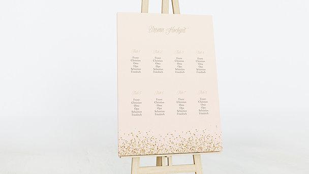 Sitzplan Hochzeit - Geflitter