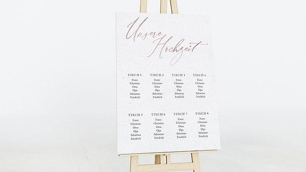 Sitzplan Hochzeit - Liebesbotschaft