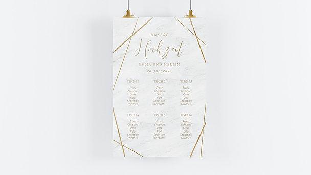 Sitzplan Hochzeit - Gold & Marmor