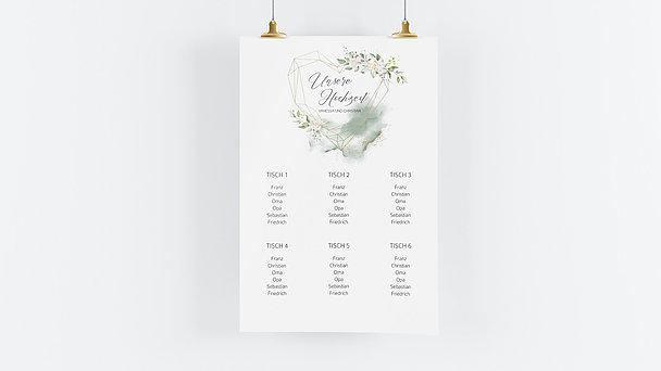 Sitzplan Hochzeit - Herzliche Eleganz