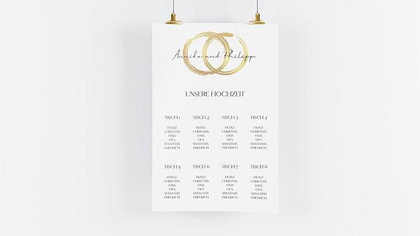 Sitzplan Hochzeit - Noblesse