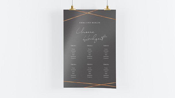 Sitzplan Hochzeit - Zwei Glückskinder