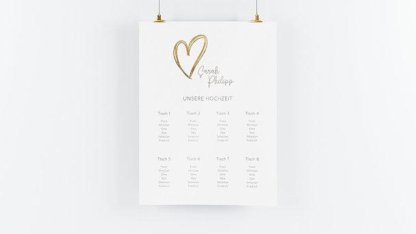 Sitzplan Hochzeit - Herz über Kopf