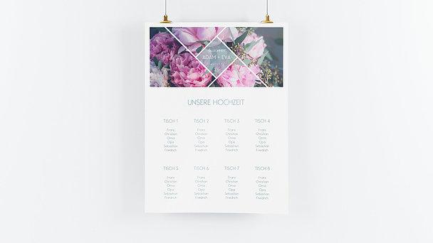 Sitzplan Hochzeit - Facetten